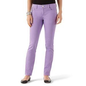 White House Black Market Lilac Slim Ankle Jeans